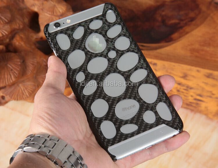 Hot Hollow Cover For iPhone 6 Plus Carbon Fiber Matte Case for iPhone 6 5.5'' Carbon Fiber Polishing Case