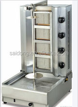 4 Burners Stainless Steel Automatic Gas Doner Kebab Machine