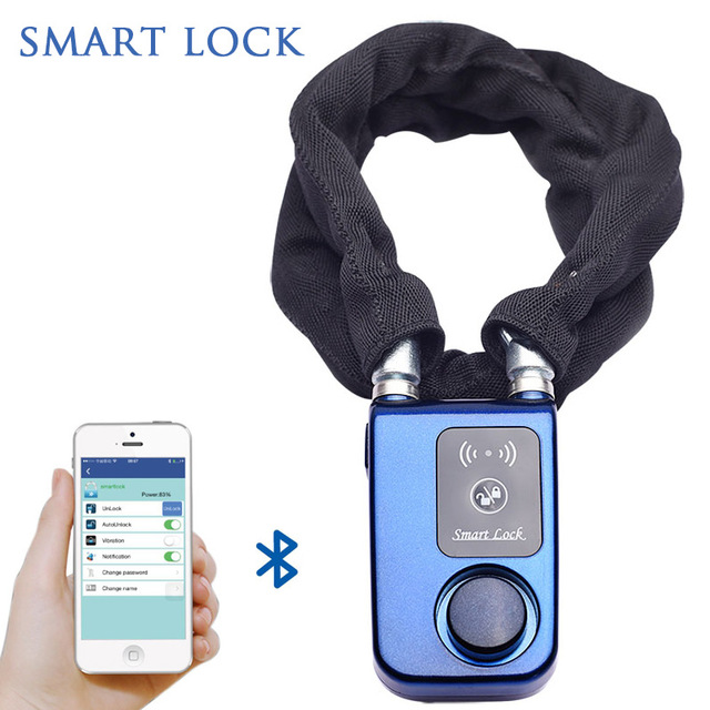new 2016 products intelligent bluetooth padlock used motorcycles keyless lock