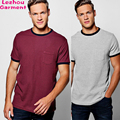 Plain t-shirts 100%cotton with pocket