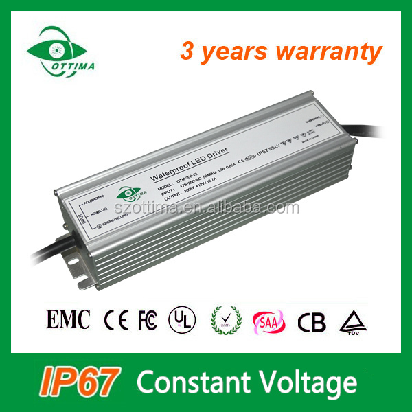 100W 150W 200W ip67 switch power supply 220V 12v led waterproof driver for led strip