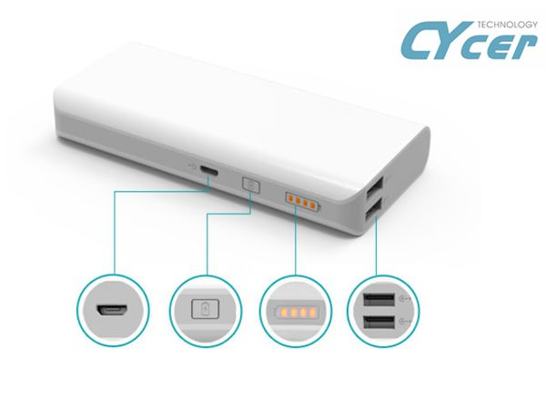 Made in china smartphone power bank 10400mAh portable power bank