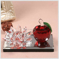 Fancy Crystal Car Pperfume Bottle With Lotus & Apple