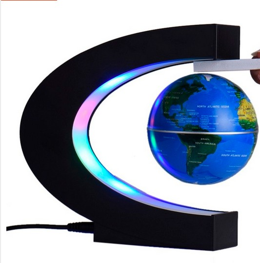 3'' globe C shape base colorful globes floating business gift magnetic levitation