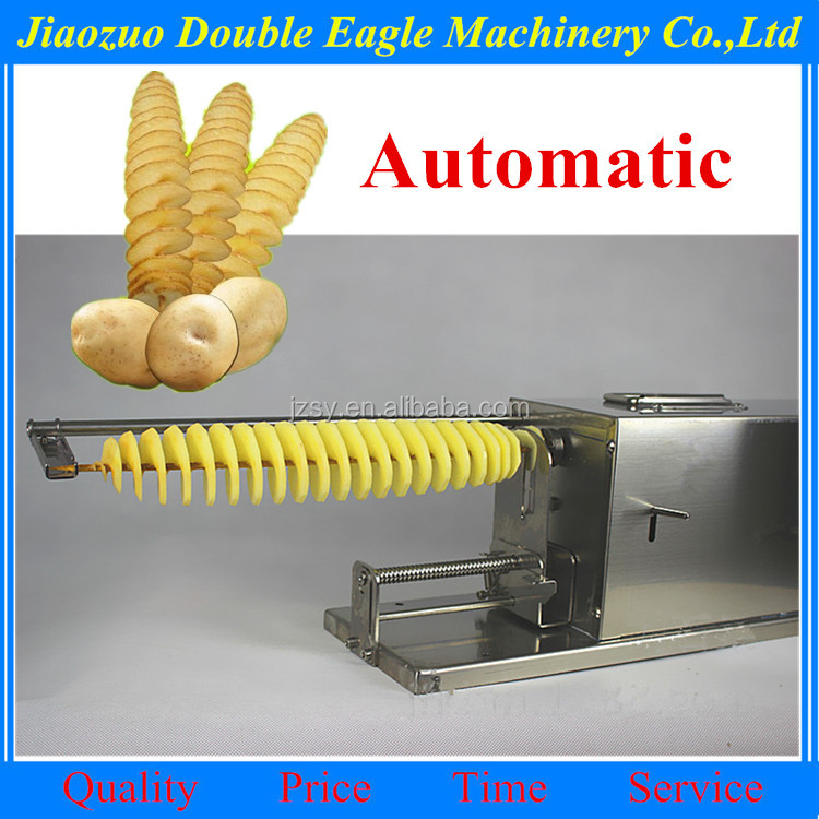 Hot sale stainless steel Spring potato cutter / Potato tower slicing machine