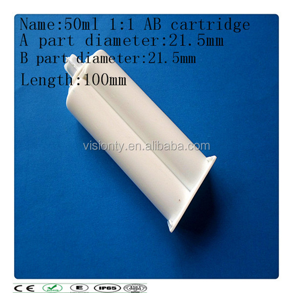 400ml 1:1 2-Component Empty Caulking Cartridge/Disposable Dual Cartridge Manufactory
