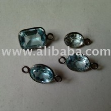 Blue Topaz and Sterling Silver Jewelery Finding