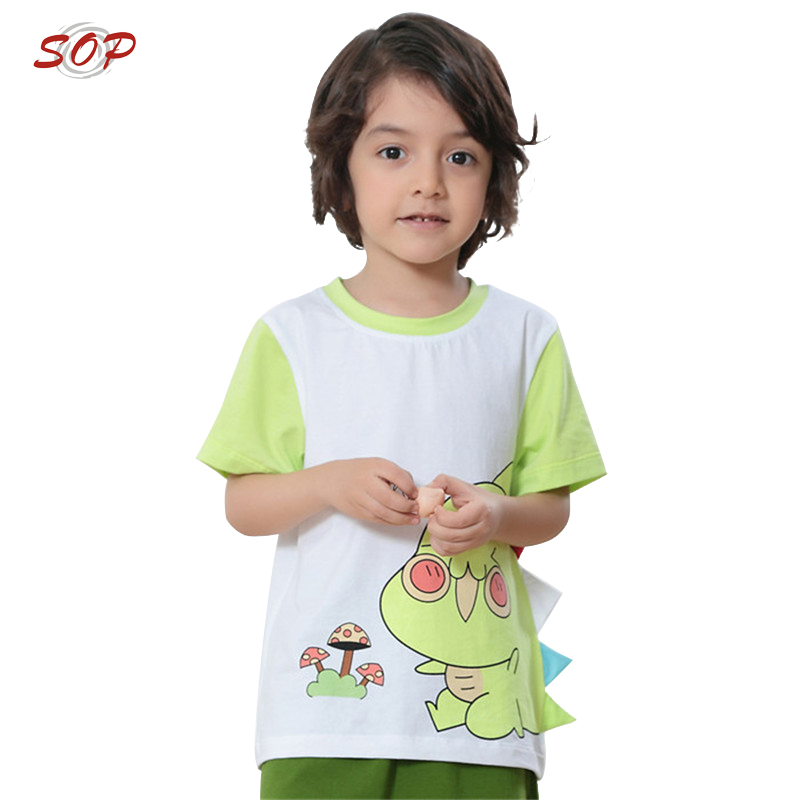 Cotton children kids cartoon t shirts summer clothes baby boy short sleeve t shirt