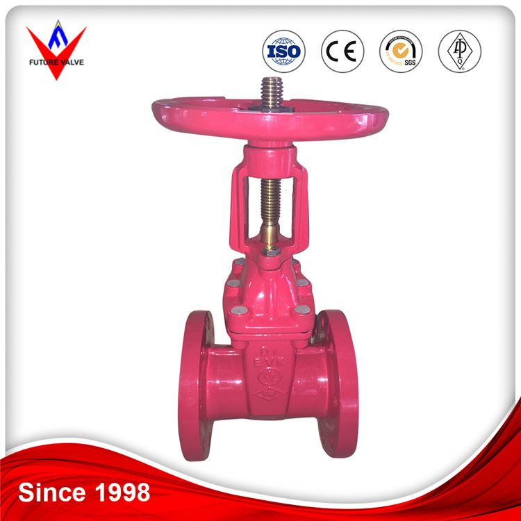 Soft Seal Non Rising Stem ANSI Cast Iron Jis Resilient Seated Gate Valve