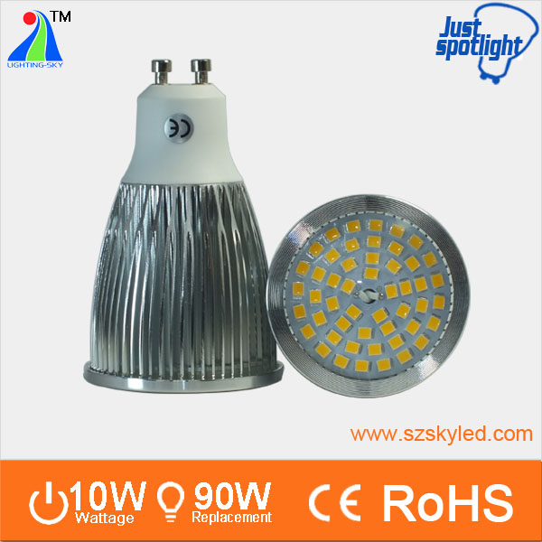replace halogen bulb 100w spot led light gu10 10w 2700k energy saving lamp