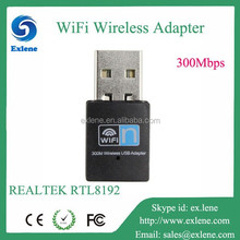 Wireless usb adapter RTL8192 300Mbps 802.11g/b/n pc network card