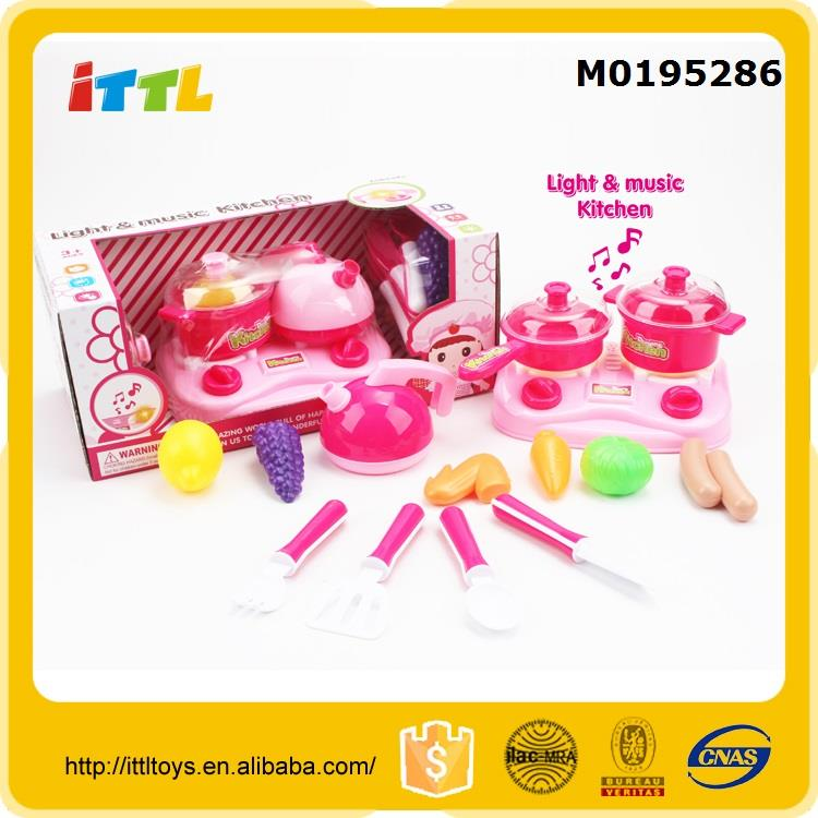 Best selling plastic food toy kitchen tool set cooking set kitchen toy