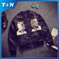 cool black custom satin bomber baseball jacket