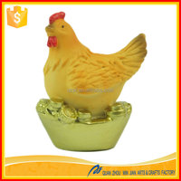 China resin craft suppliers polyresin decorative hen and rooster with EN71 / REACH SVHC / SGS