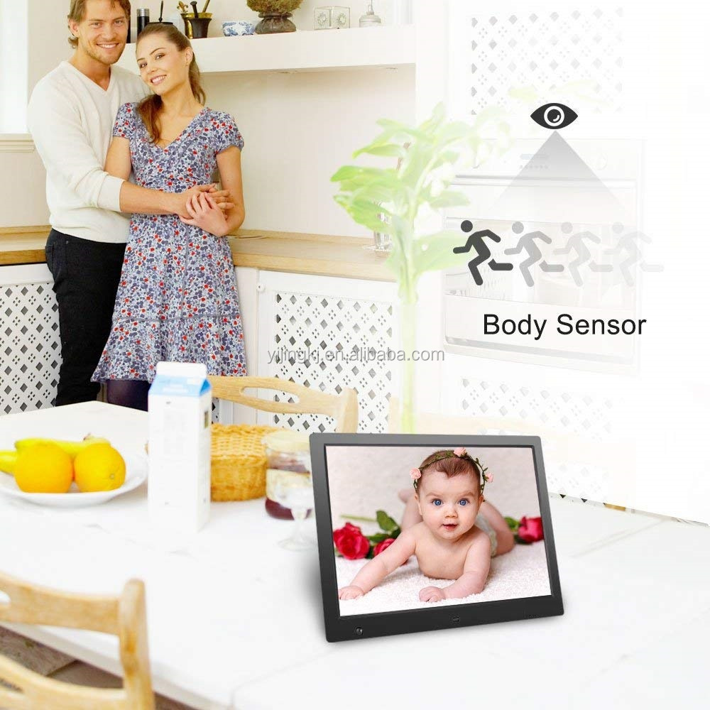 8 inch digital pihoto frames 1080P/ 720P Motion Sensor controlled small digital video player with high definition
