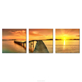 Sunset Photo Prints Golden Seascape Printing on Canvas Little Harbour Image Canvas Painting Living Room BedRoom Decoration Frame