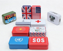 Portable outdoor 6 in 1 sos emergency survival kit box disaster first aid box