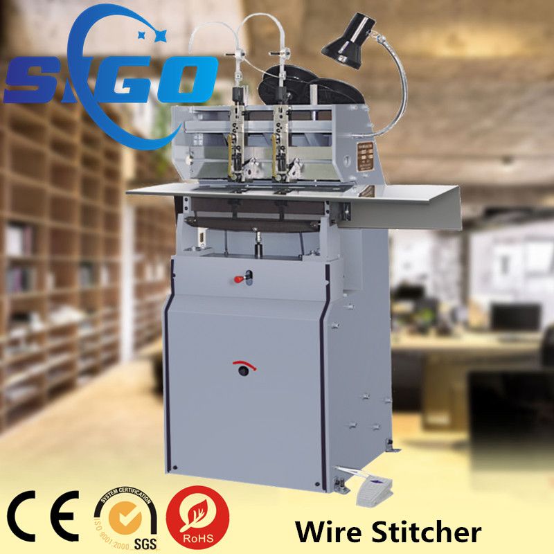 Hand operation book binding machine, wire binding machines