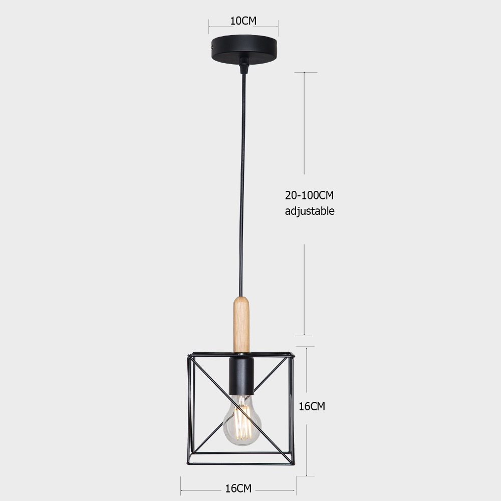 loft style iron art E27 interface can be customized cafe decoration chandelier