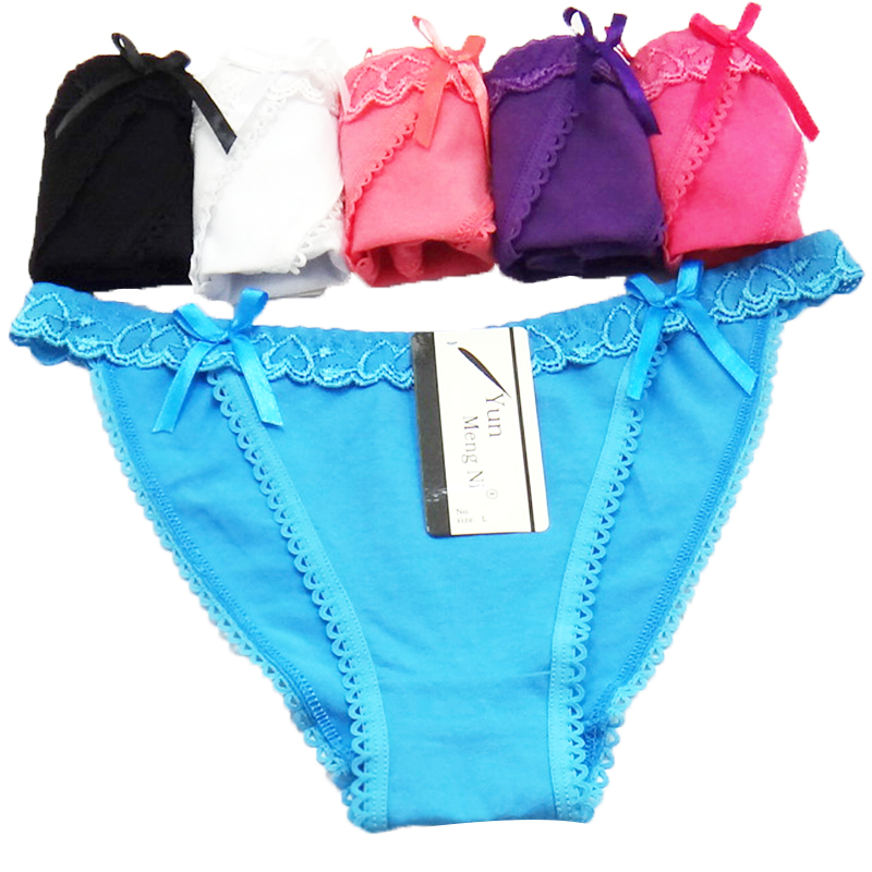 Sexy bikini pure color underwear for young girl factory price wholesale stock panties
