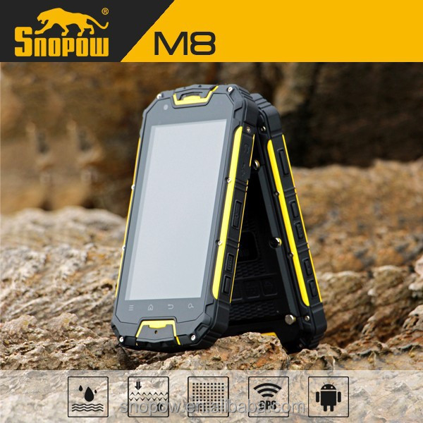 waterproof IP68 SNOPOW M8 quad core 3g mobile phones without camera