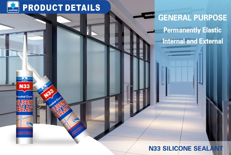 Transparent high performance glass and aluminum silicone sealant