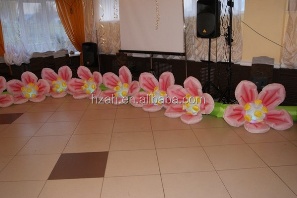 Event Decoration Inflatable Flowers with LED/ 2015 Newest Artificial Flower Chain