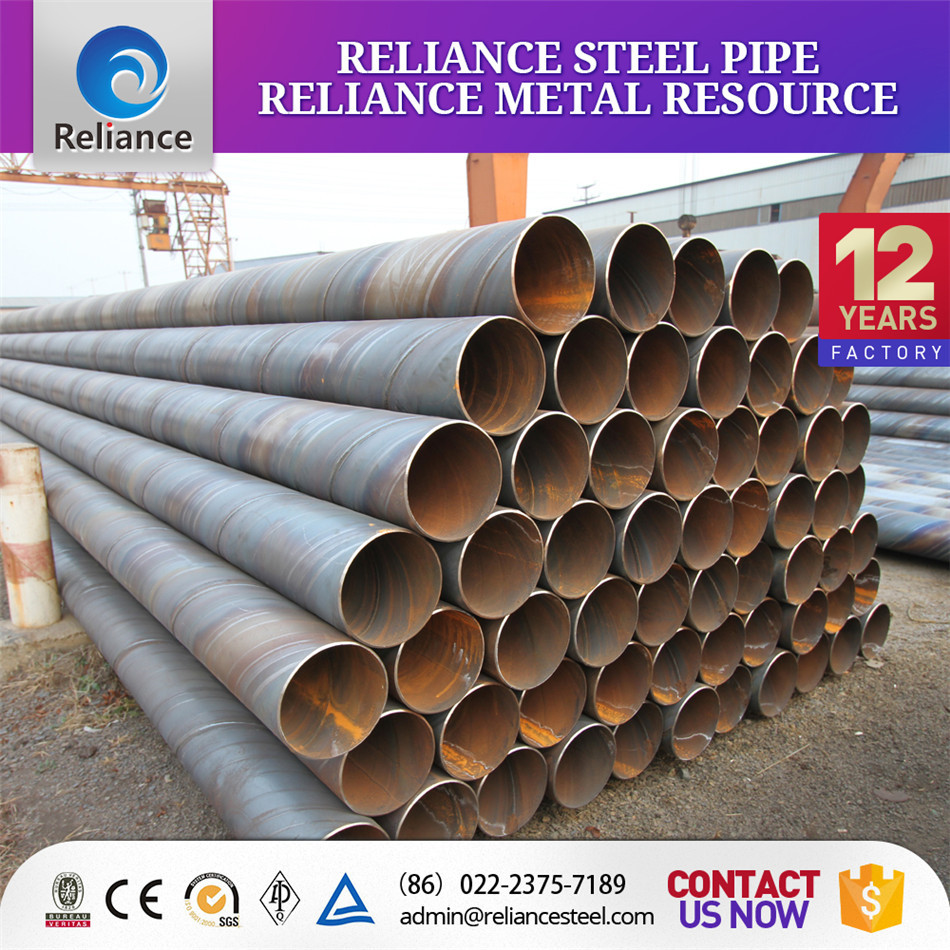 SSAW WATER PIPE LINE / SPIRAL WELDED STEEL PIPE SUPPLIER RELIANCE CHINA