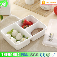 3-compartment Plastic Bento Lunch Box Food Container For Microwave oven