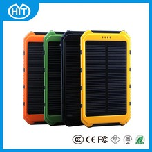 2015 New Solar Power Bank 5000mah Bateria externa external Battery Solar Charger powerbank for iPhone for HTC for PSP