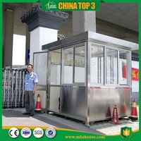 Prefab Portable Stainless Steel security Guard House