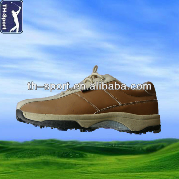 Men's Waterproof Genuine Leather Street Golf Shoes