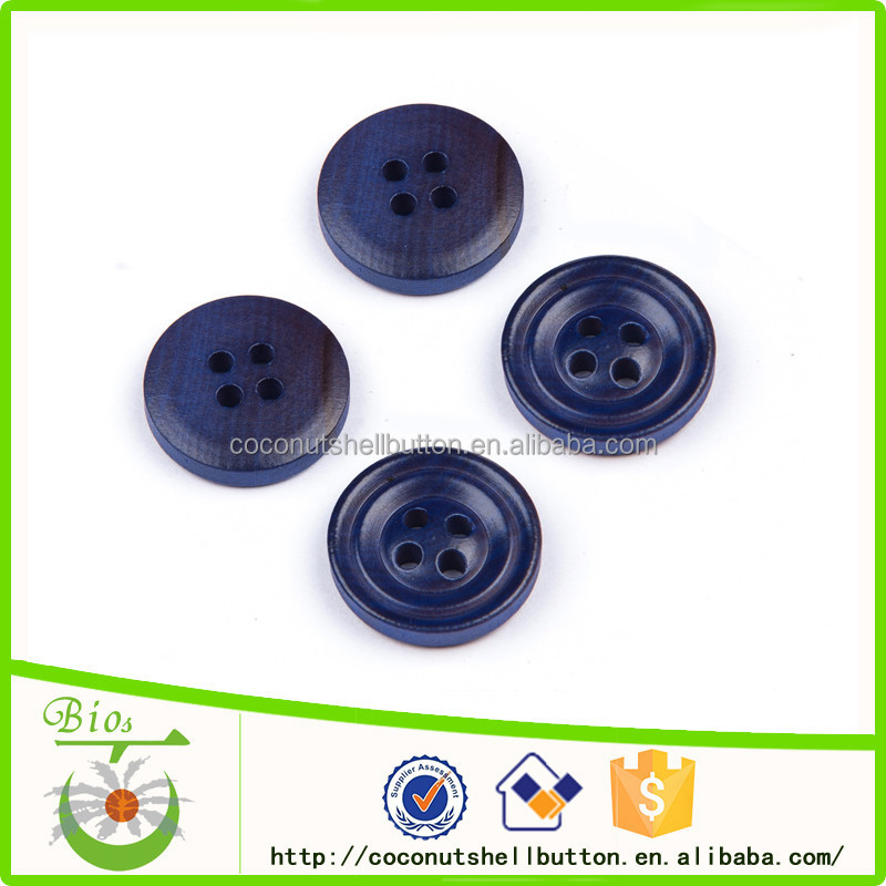 Wood button for fox fur coat lab coat and down coat