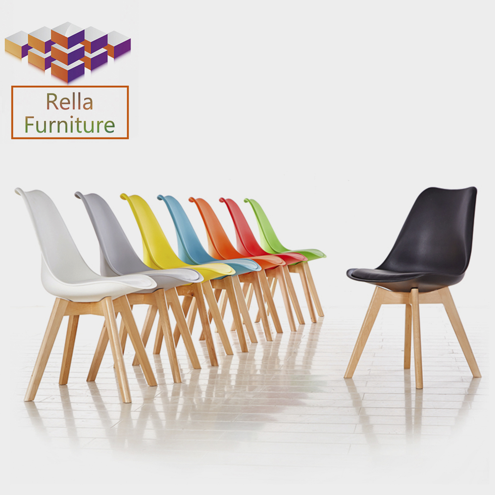 Popular Plastic Chairs with Wheels Office Chair Furniture