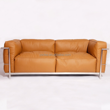 Project investment of furniture LC3 relaxed 2 seater sofa in leather
