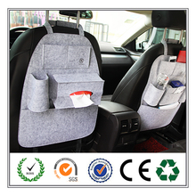 Certificated Car Organizer Back Seat Pocket, Travel Outdoor Hanging Storage Bag With Tissue Holder