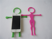 2015 fashion silicone mobile phone hanger accessories