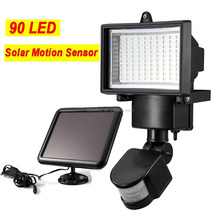 90LED solar powered security light waterproot outdoor motion sensor light outdoor wireless solar motion security light