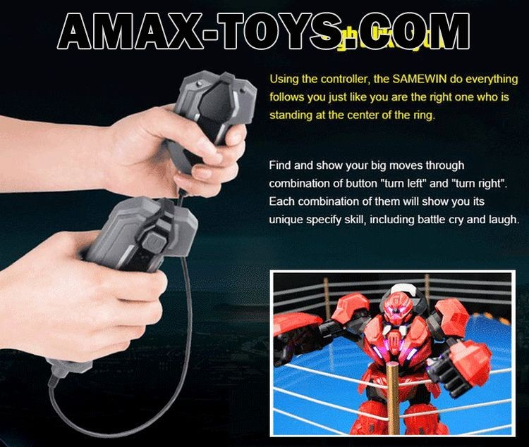 1703888R-Infrared Remote Motion Sensing Fighting Robot with 5 Combat Gorgeous Indicator