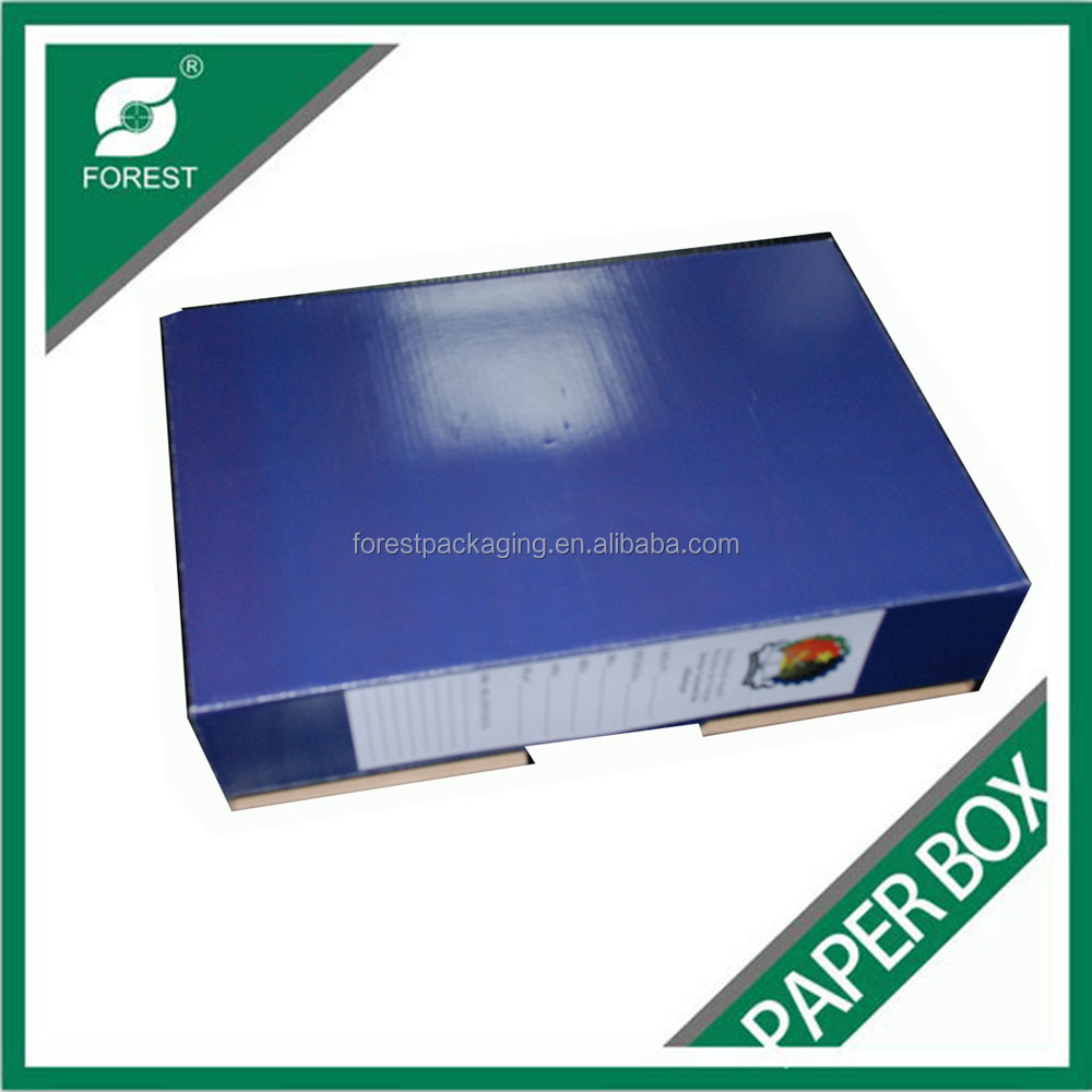 USED CARDBOARD STORAGE BOX FOLDABLE DEEDBOX WITH LID ONE PIECE PACKING BOX FOR ARCHIVES SHIPPING
