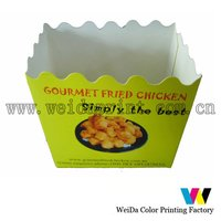 Food packaging box for fried chicken