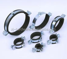 stainless steel split pipe clamp with DPEM rubber