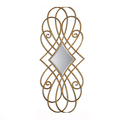 BISINI Graceful European Style Home Decoration Luxury Hanging Copper Gold Wall Mirror For Gift BF08-SJ100029