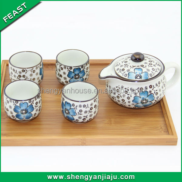 Factory supply glazed korean tea set