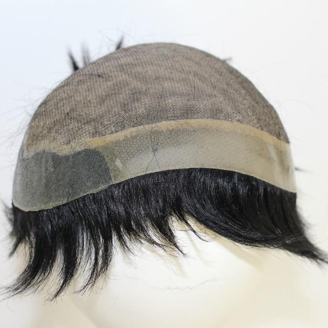 virgin india human hair piece black men toupee