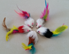 Cute Pet Cat Kitten Catching Toys Faux Furry Mouse with Feather Tail Toys