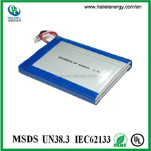 Lithium Polymer 555376 1S2P 3.7V 4.4Ah battery pack
