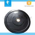 Gym Fitness Training Durable Black Natural Rubber Weightlifting Bumper Plate