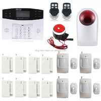 DHL free shipment GSM smoke alarm, wireless home security alarm system kit, gsm alarm 433mhz with smoke and heat detector