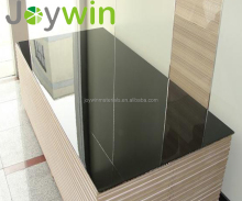 China prices double sided one sided melamine paper faced standard size high gloss laminated black mdf board